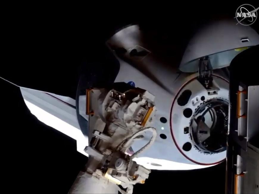 Captura de tela da nave da SpaceX