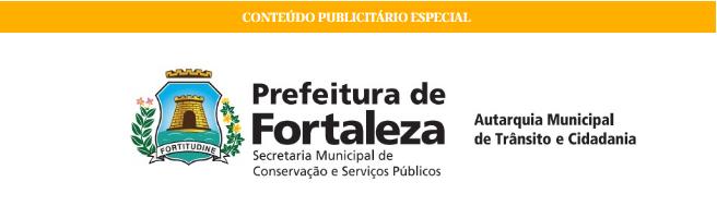 Imagem da logomarca da Prefeitura de Fortaleza e Autarquia Municipal de Trânsito