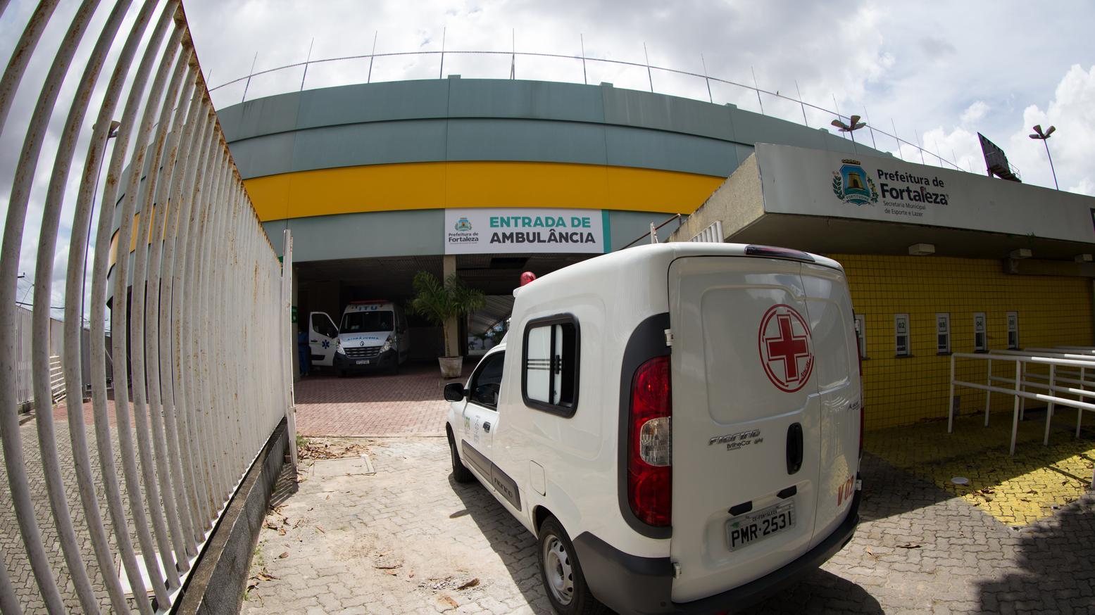 Foto mostra entrada do hospital