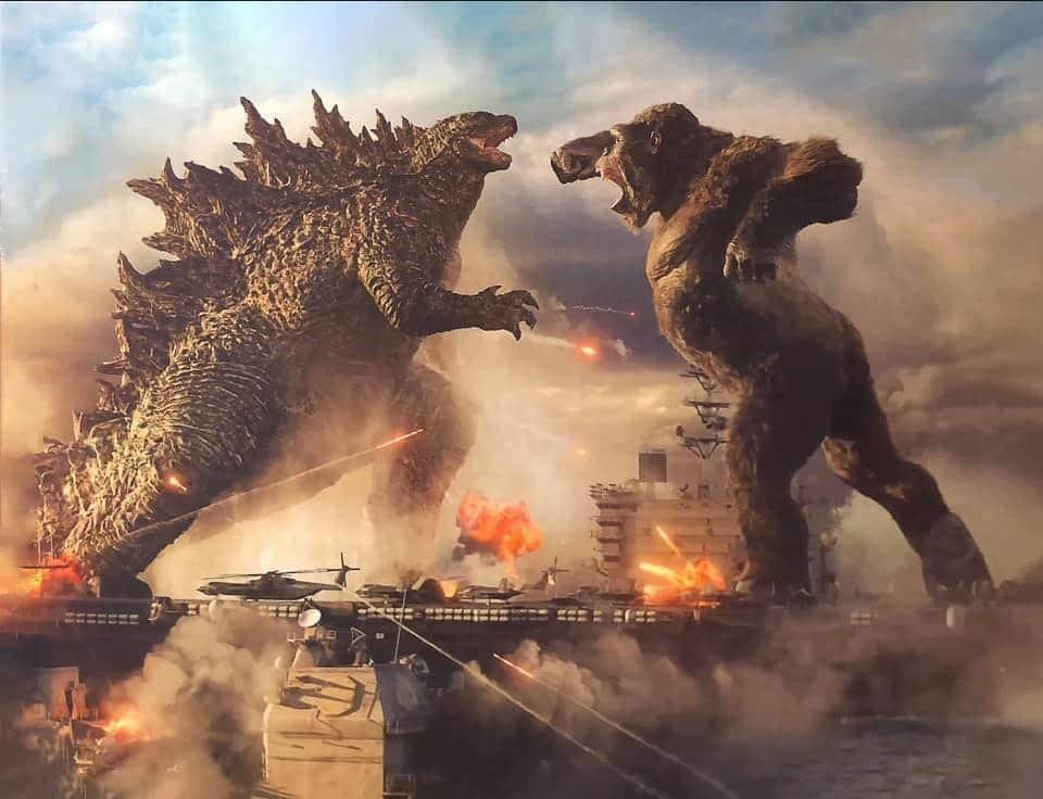 Esta é uma imagem do filme Godzilla vs Kong