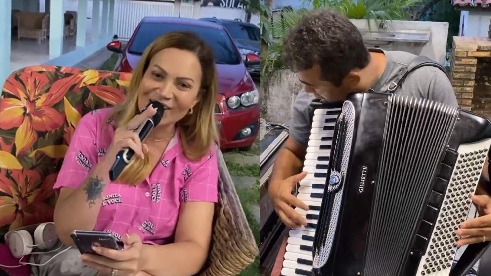 Cantora ainda divulgou vídeos com instrumentistas de banda