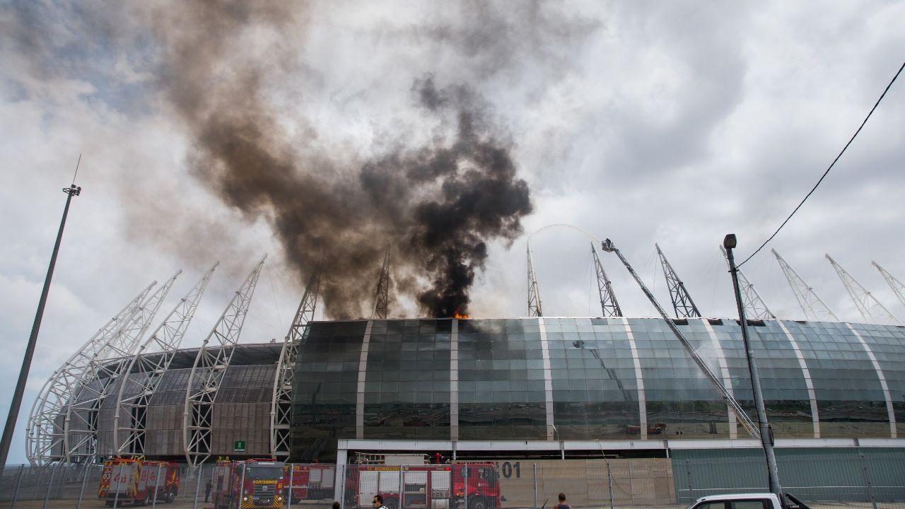 Arena Castelão incêndio