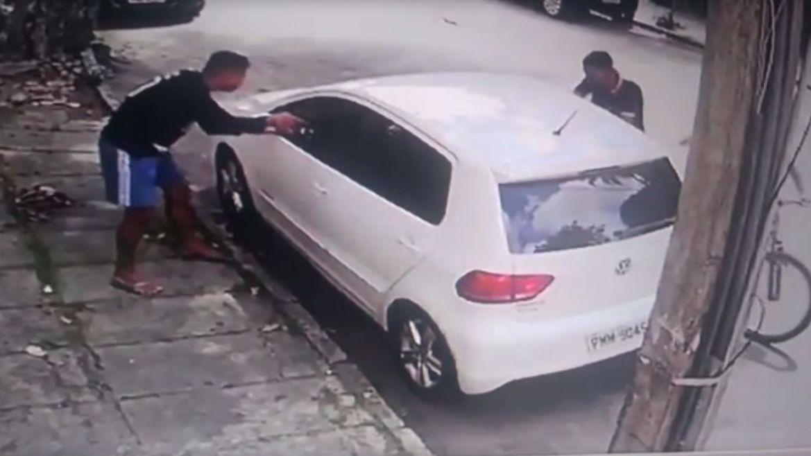 Esta é uma imagem de um assalto no Dionisio Torres
