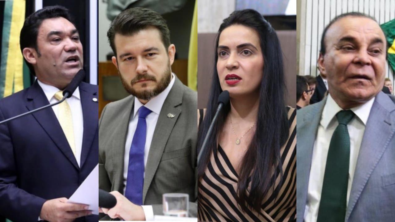 Genecias Noronha, Pedro Bezerra, Aderlânia Noronha e Aníbal Gomes