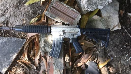 Polícia Civil apreendeu um fuzil 556 durante as investigações da Operação Occasus