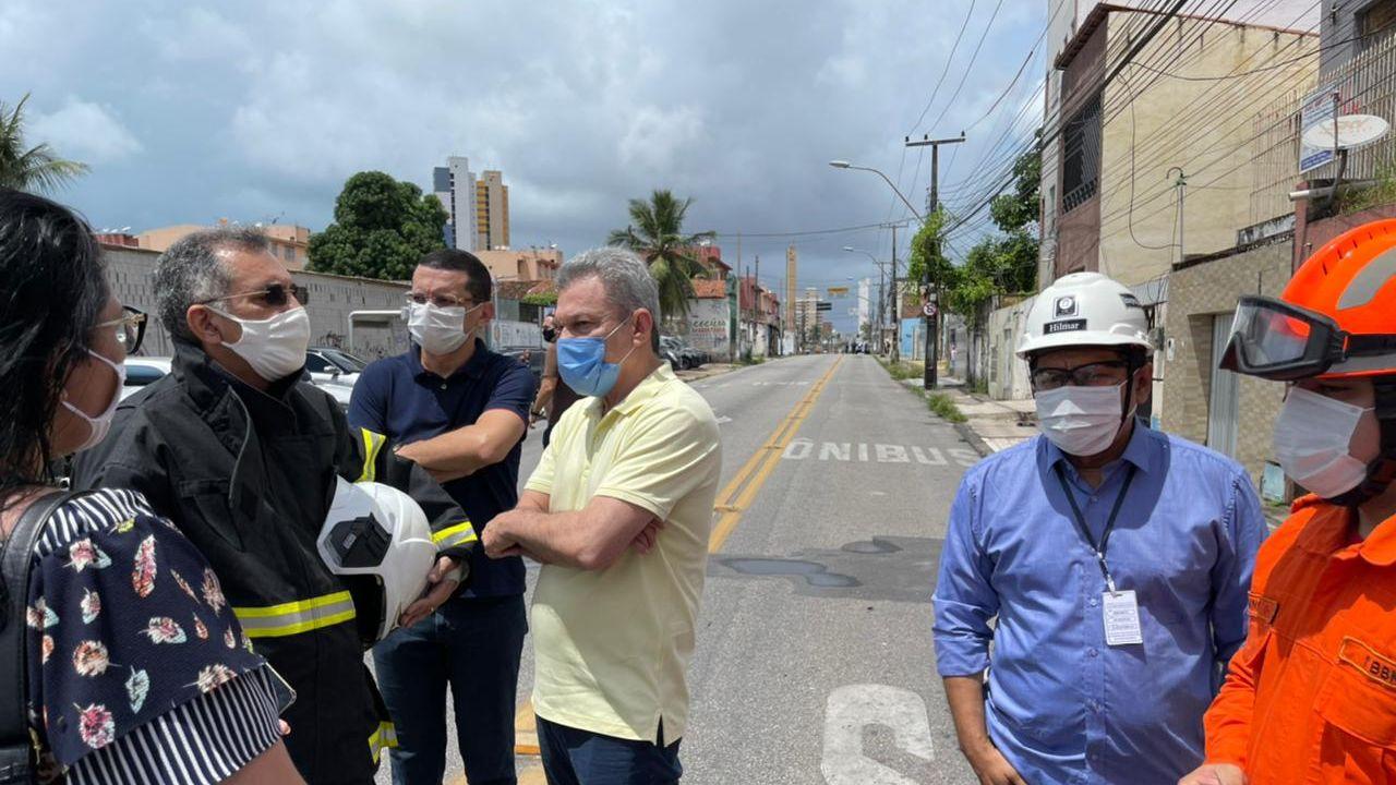 José Sarto visita explosão