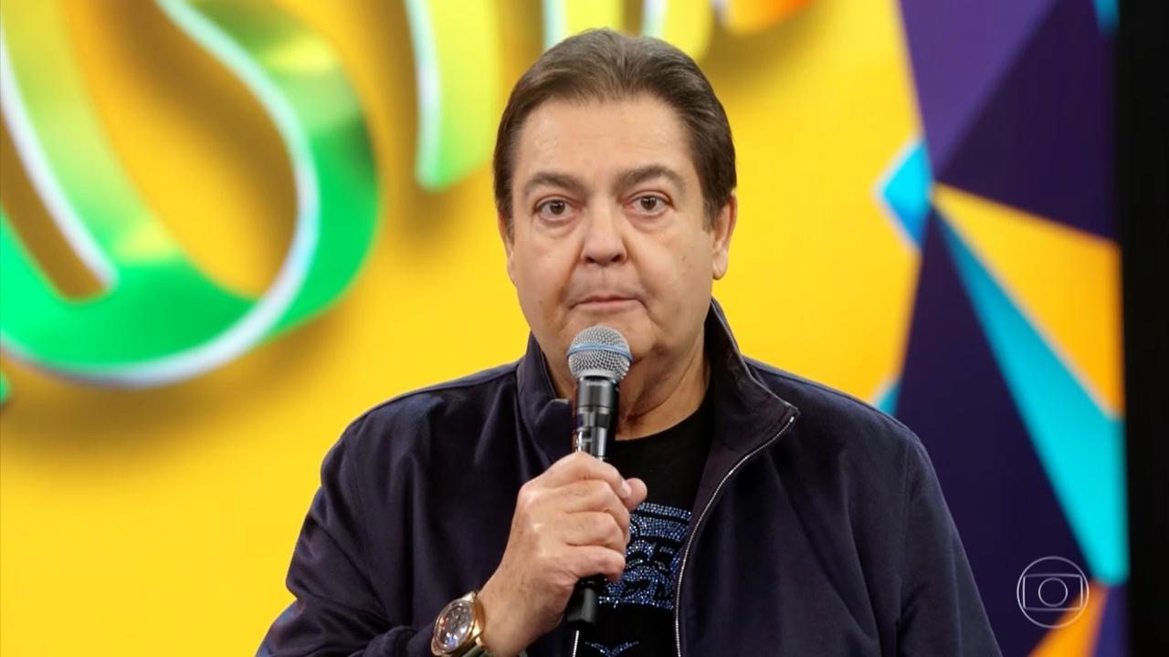 Faustão em apresentação na Rede Globo