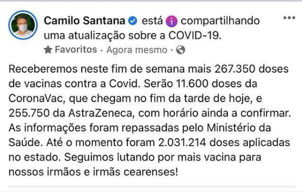 Anúncio Camilo