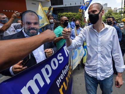 Bruno Covas em campanha eleitoral em 2020