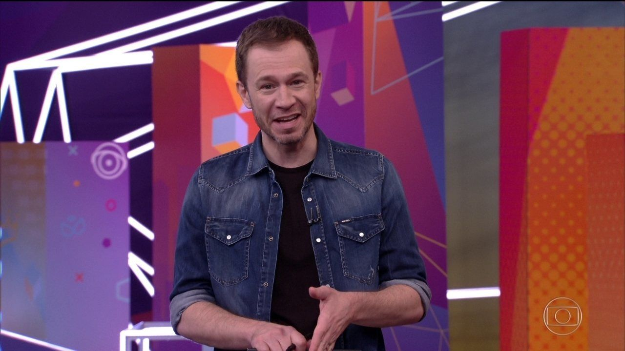 Tiago Leifert em programa da Globo