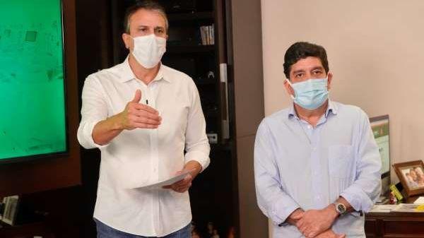 Governador Camilo Santana e secretário de Saúde Dr. Cabeto Martins Rodrigues
