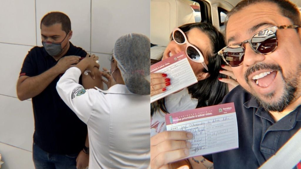 Xand Avião publicou foto da vacinação em rede social