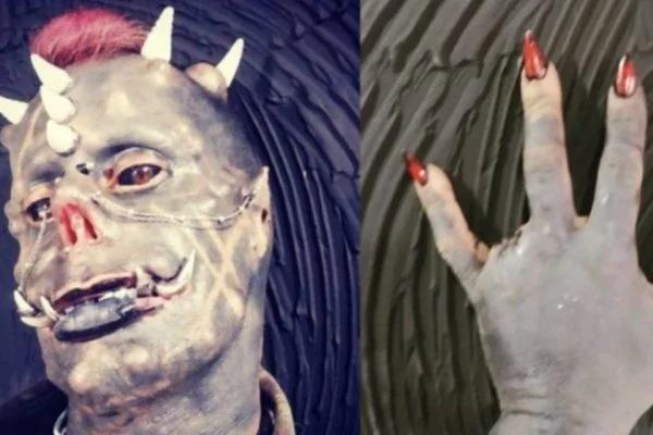Tatuador Michel Prado conhecido como Diabão