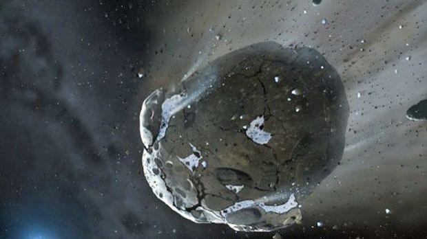 Imagem artística de um asteroide