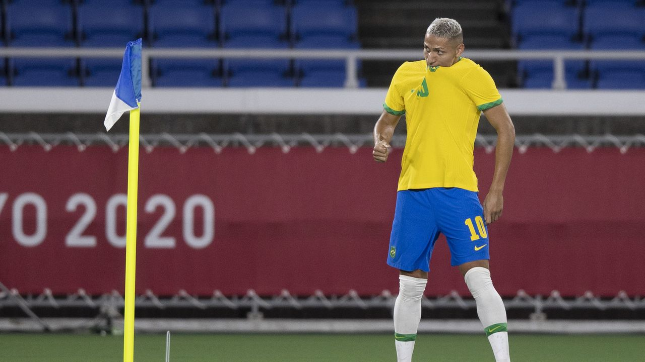 Richarlison Se Torna Primeiro Jogador Da Selecao Brasileira A Marcar Tres Gols Em Estreia Olimpica Jogada Diario Do Nordeste