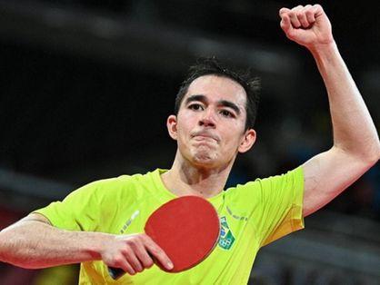 Hugo Calderano tênis de mesa Olimpíadas de Tóquio