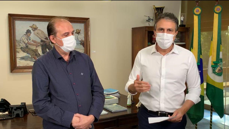 Camilo anunciou decreto ao lado de Marcos Gadelha