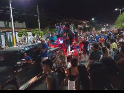 Apoiadores em Jaguaruana