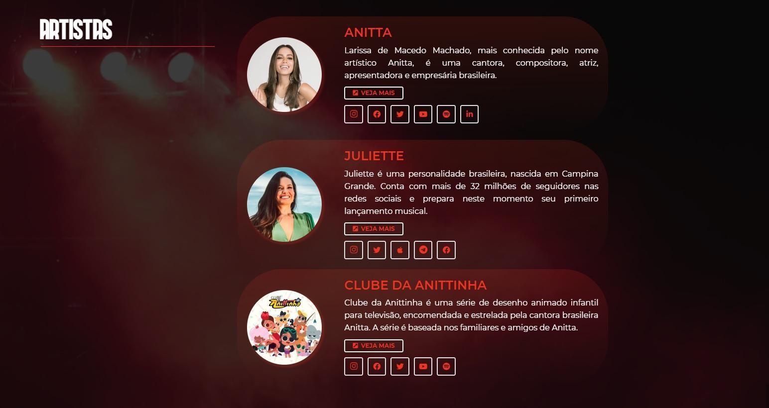 Juliette já aparece no casting da gravadora fundada por Anitta