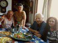Almoço em comemoração ao aniversário de Célio em fevereiro de 2021