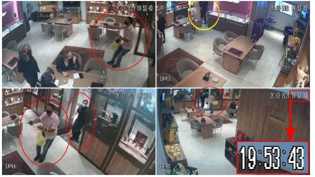 Criminosos chegaram à loja às 19h53 e, no mesmo minuto, começou o tiroteio