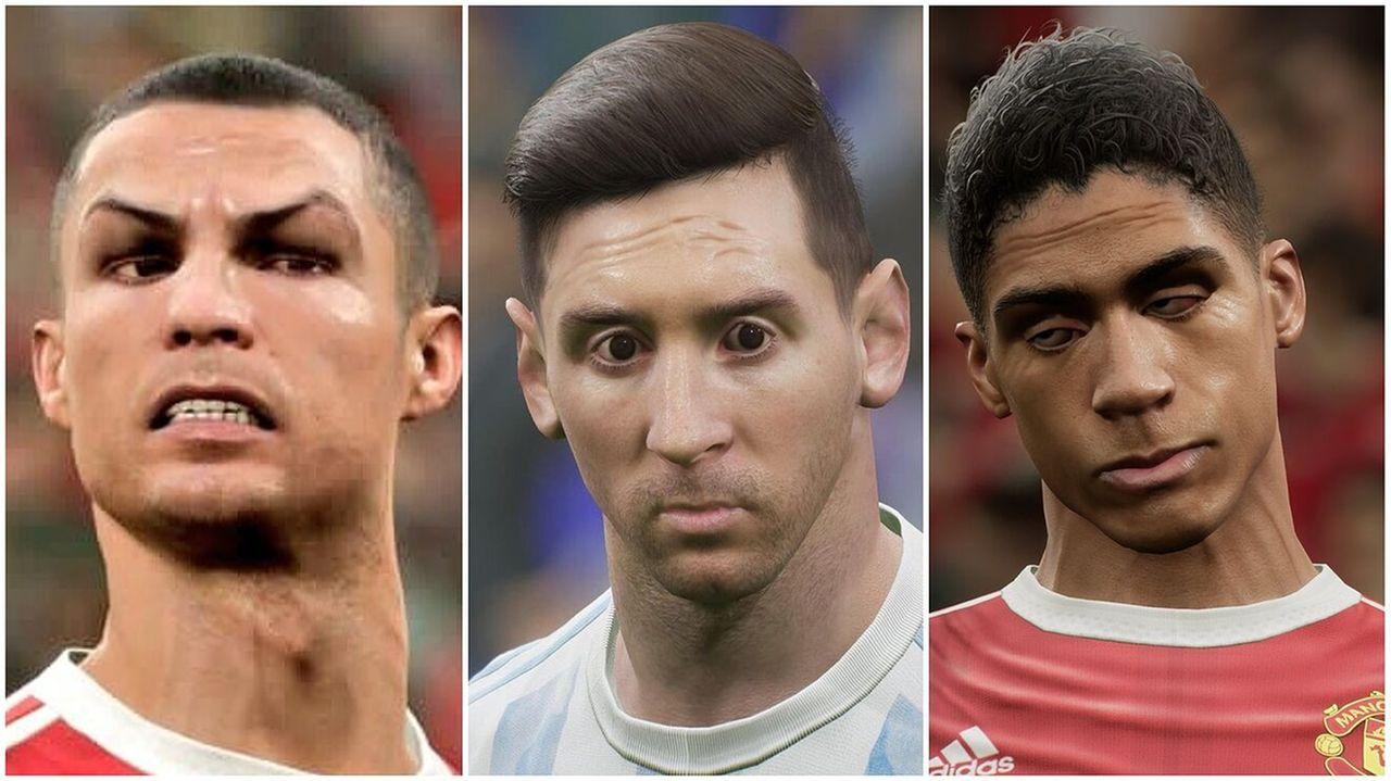 Faces dos jogadores em eFootball 2022