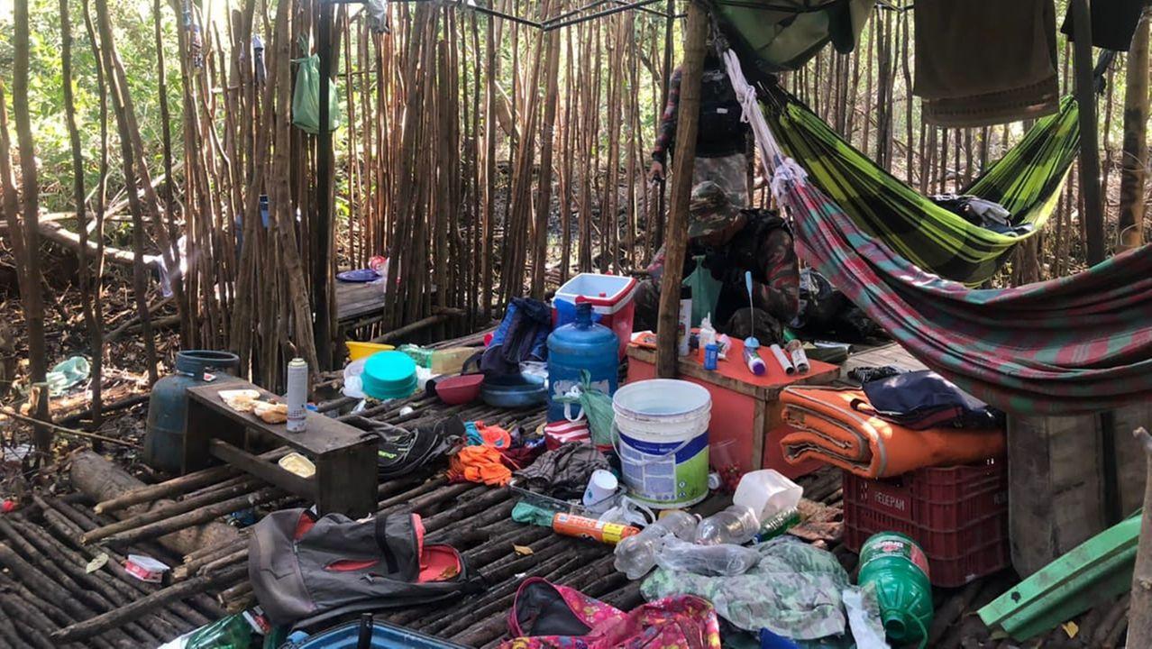 acampamento do crime em mangue do Ceará