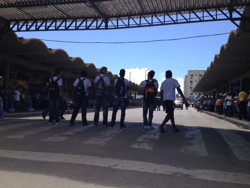 Estudantes protestam no Terminal da Messejana