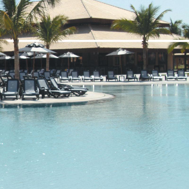 O Vila Galé Cumbuco tem como um dos diferenciais uma imensa piscina