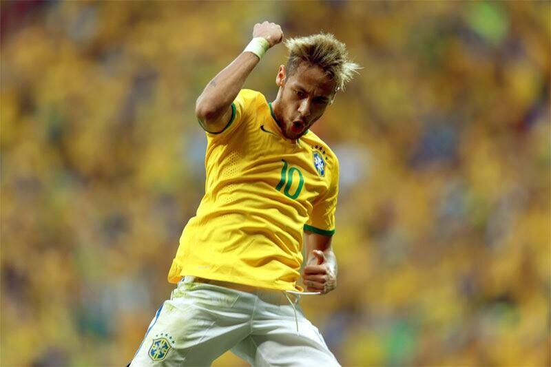 Neymar marca para o Brasil