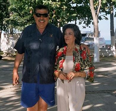 Rubén Aguirre e sua esposa Consuelo