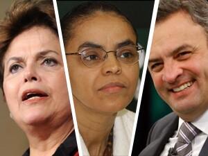 Dilma, Marina e Aécio aparecem melhores colocados na pesquisa CNI/Ibope