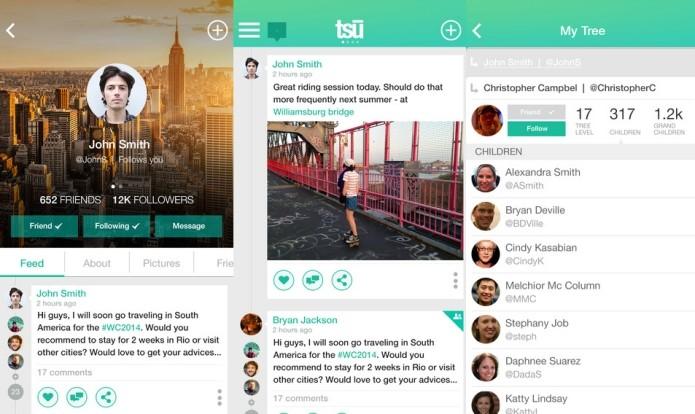 O layout da nova rede social lembra o desenho do Facebook