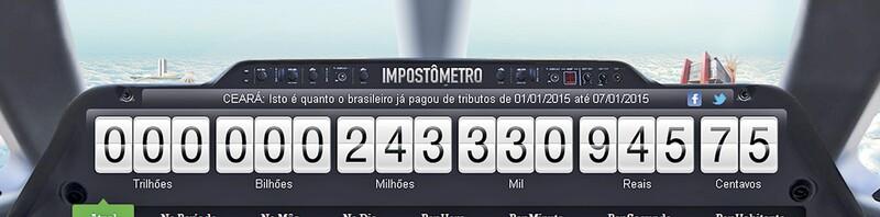 Clique na imagem para ampliar e conferir a quantidade de impostos já pagos pelos brasileiros em 2015
