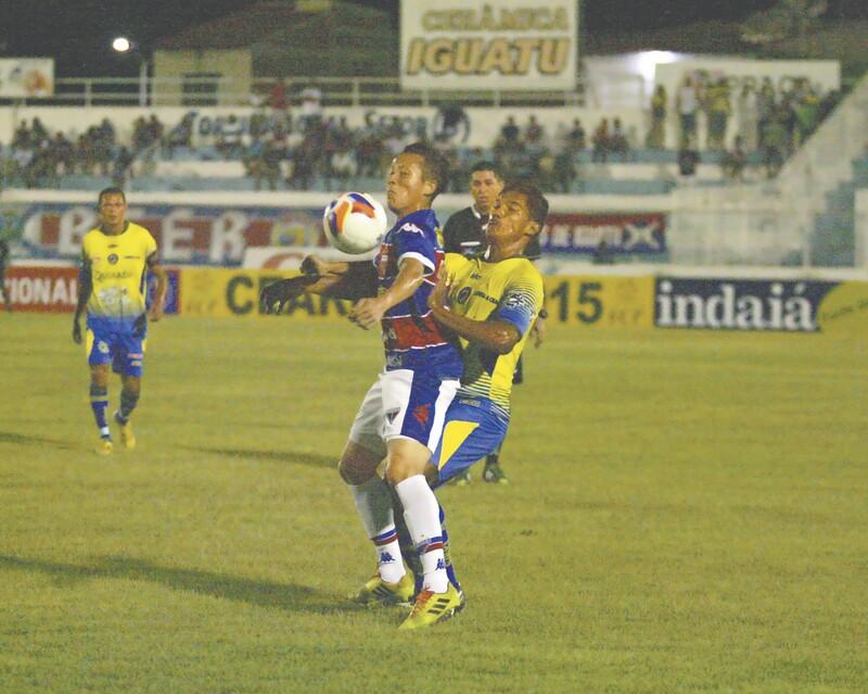 Jogadores bem que tentaram, mas não conseguiram tirar o zero do placar em Iguatu