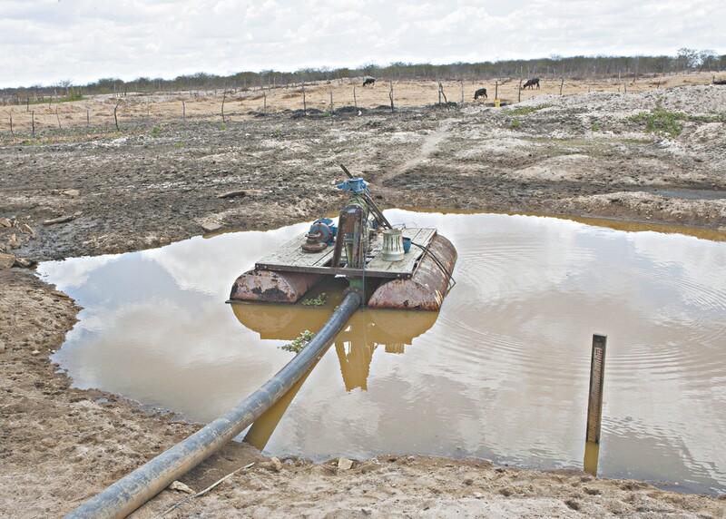 Entre as cidades, que estarão completamente sem água nos próximos meses, está Jaguaretama. A região mais afetada é o sertão de Crateús