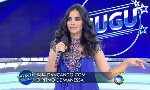 Wanessa no programa do Gugu