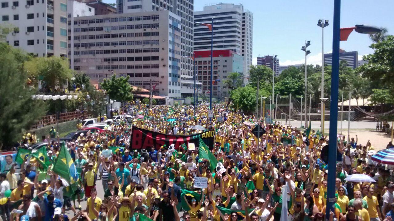 Protesto em Fortaleza neste domingo