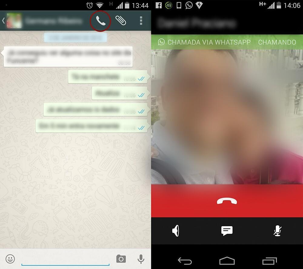 Ligação Whatsapp