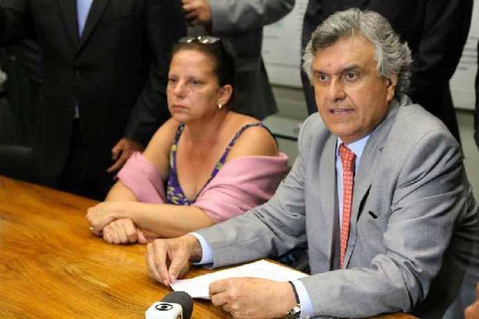 Ronaldo Caiado e Romana Matos