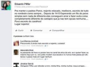 Piloto xinga nordestinos no Facebook